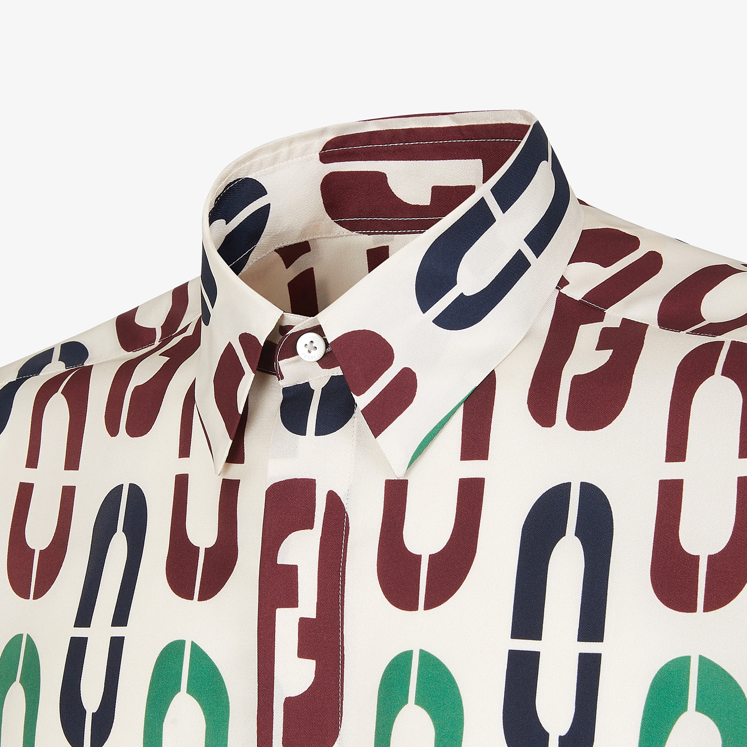 FENDI SHIRT - Multicolor silk shirt - view 3 detail
