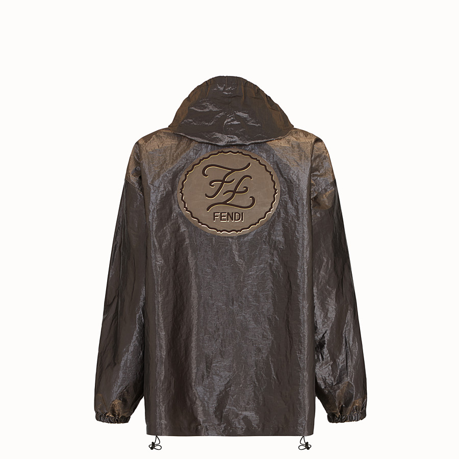 FENDI JACKET - Metallic nylon windbreaker - view 2 detail