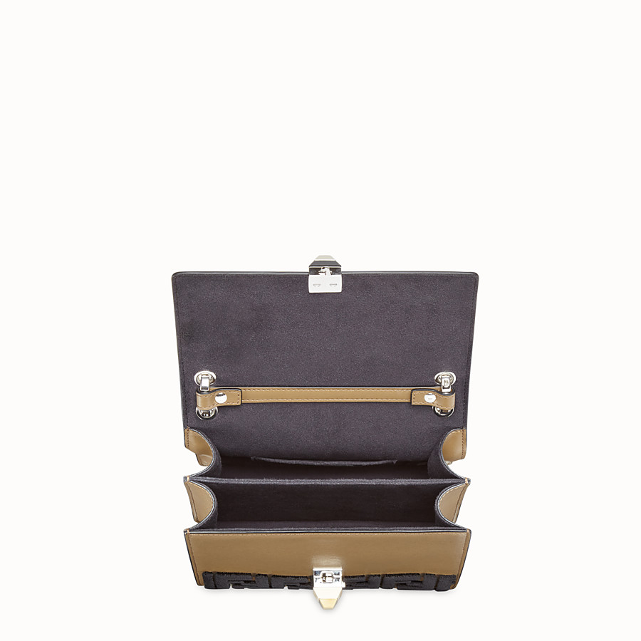FENDI KAN I SMALL - Brown leather minibag - view 4 detail