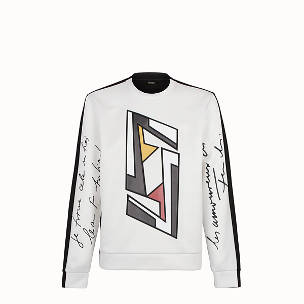 FENDI SWEATSHIRT - Pullover aus Jersey in Weiß - view 1 small thumbnail