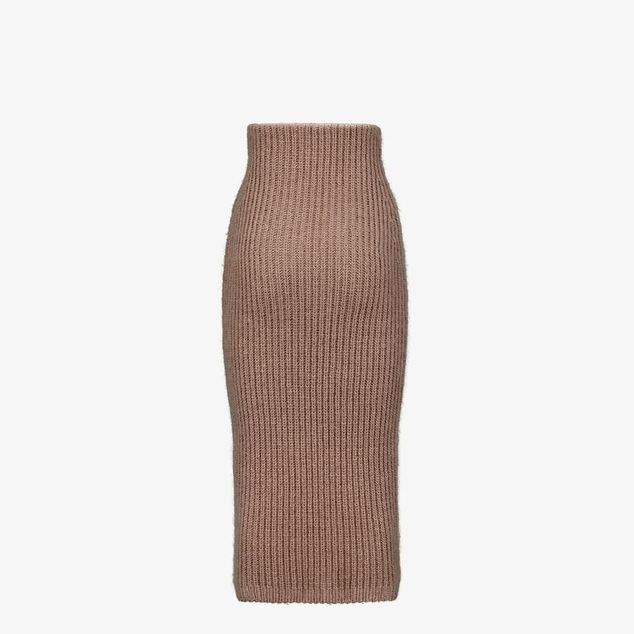 FENDI SKIRT - Brown mohair skirt - view 2 detail