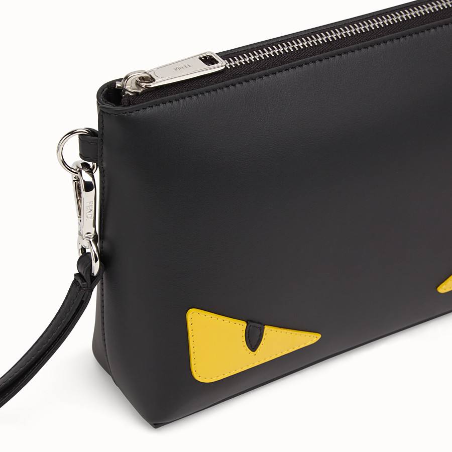 FENDI POUCH - Black leather pochette - view 4 detail