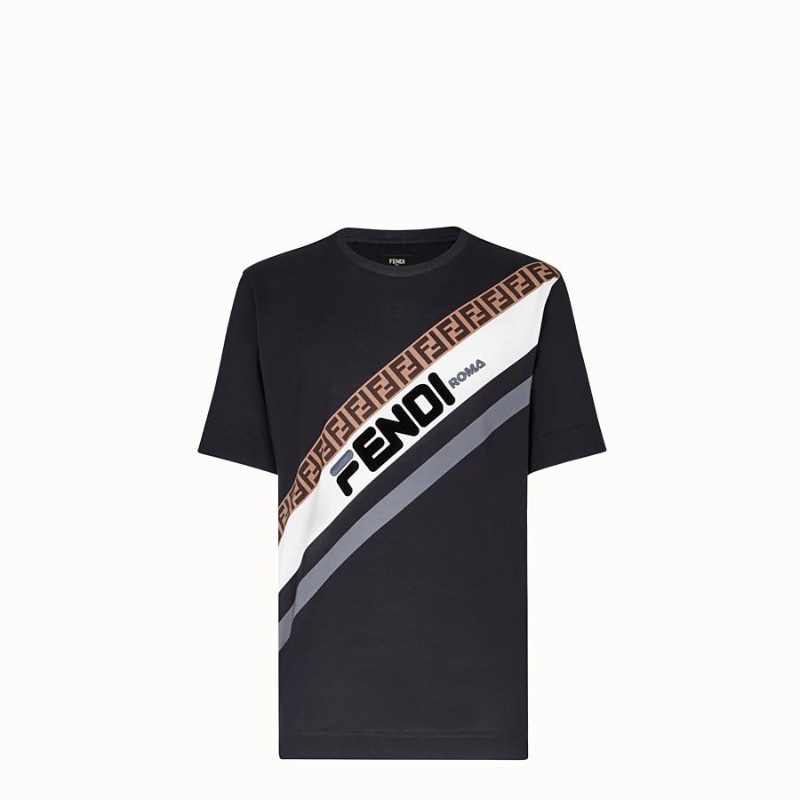 FENDI Tシャツ - グレーコットン Tシャツ - view 1 detail