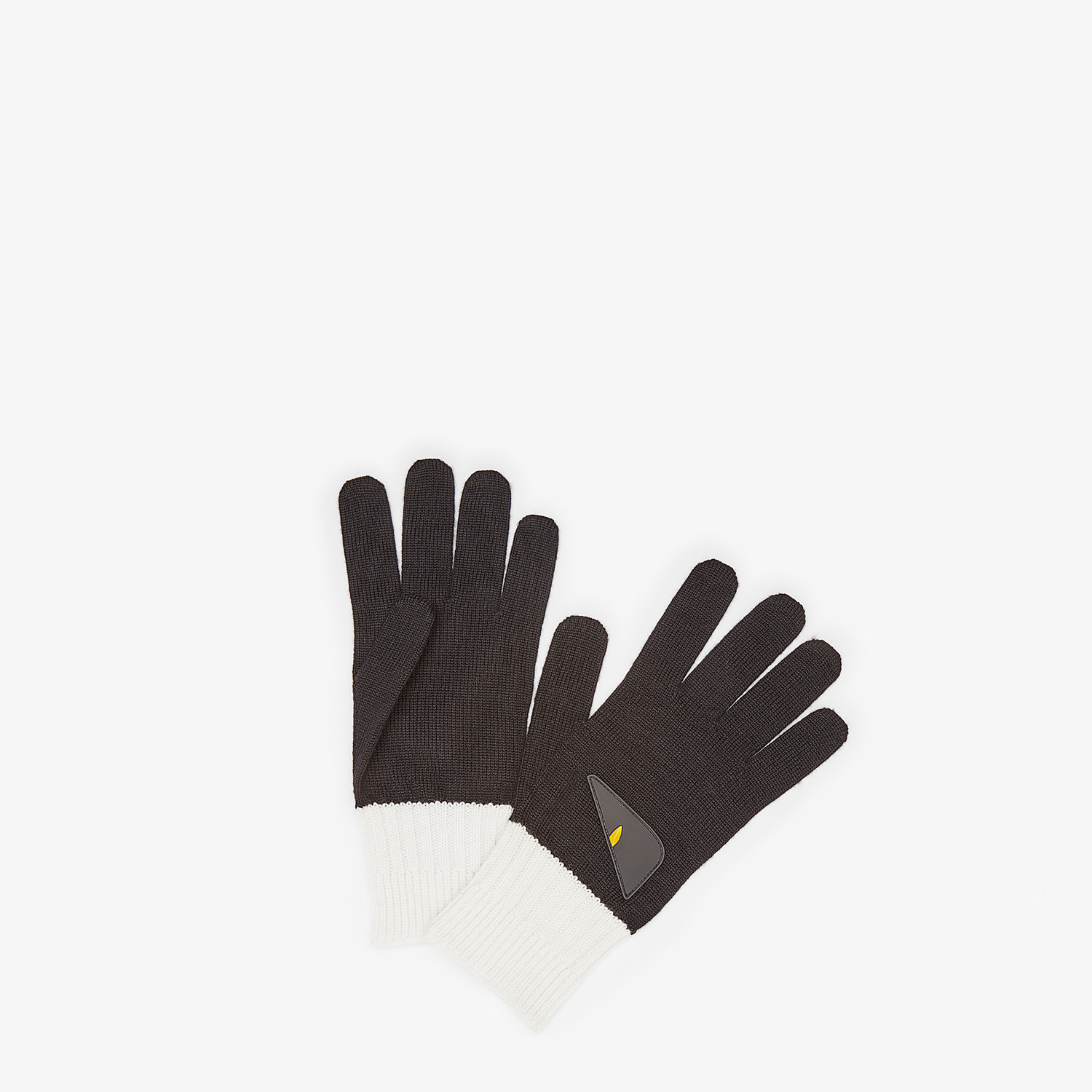 FENDI GLOVES - Black wool gloves - view 1 detail