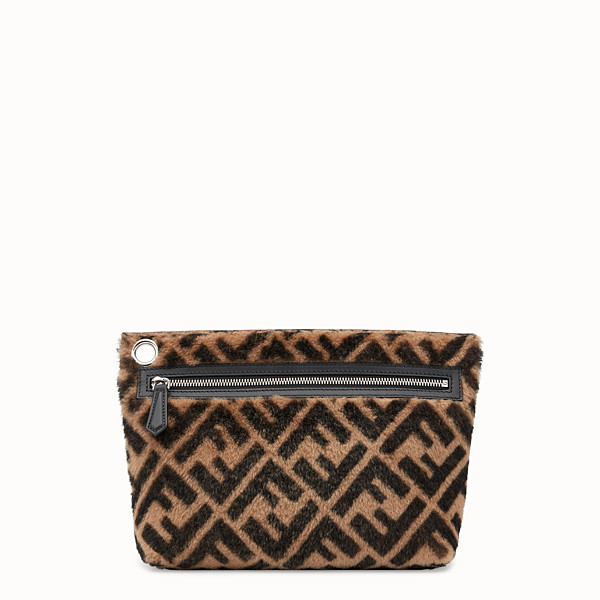 FENDI LARGE PYRAMID POUCH - Multicolour sheepskin pouch - view 1 small thumbnail