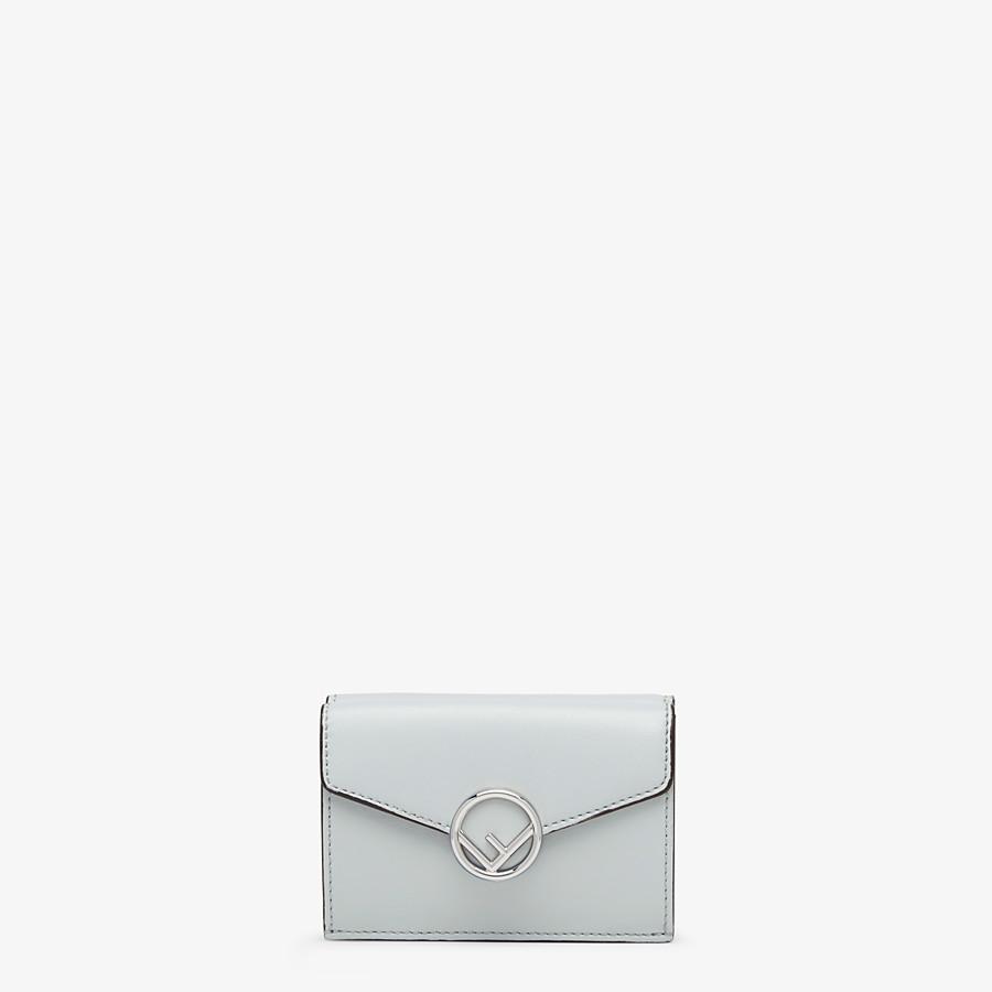 FENDI MICRO TRIFOLD - Grey leather wallet - view 1 detail