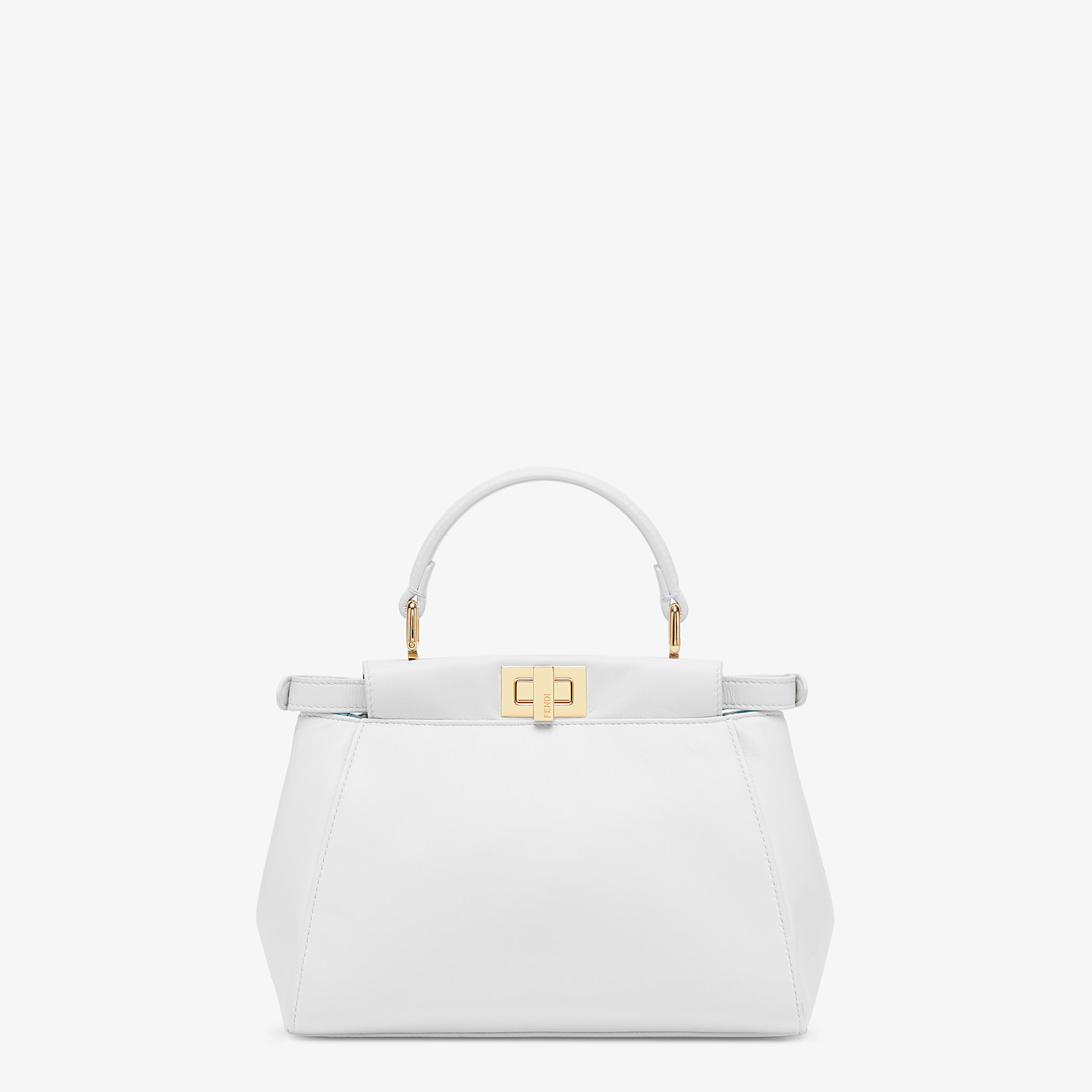 FENDI PEEKABOO ICONIC MINI - White nappa leather bag - view 4 detail