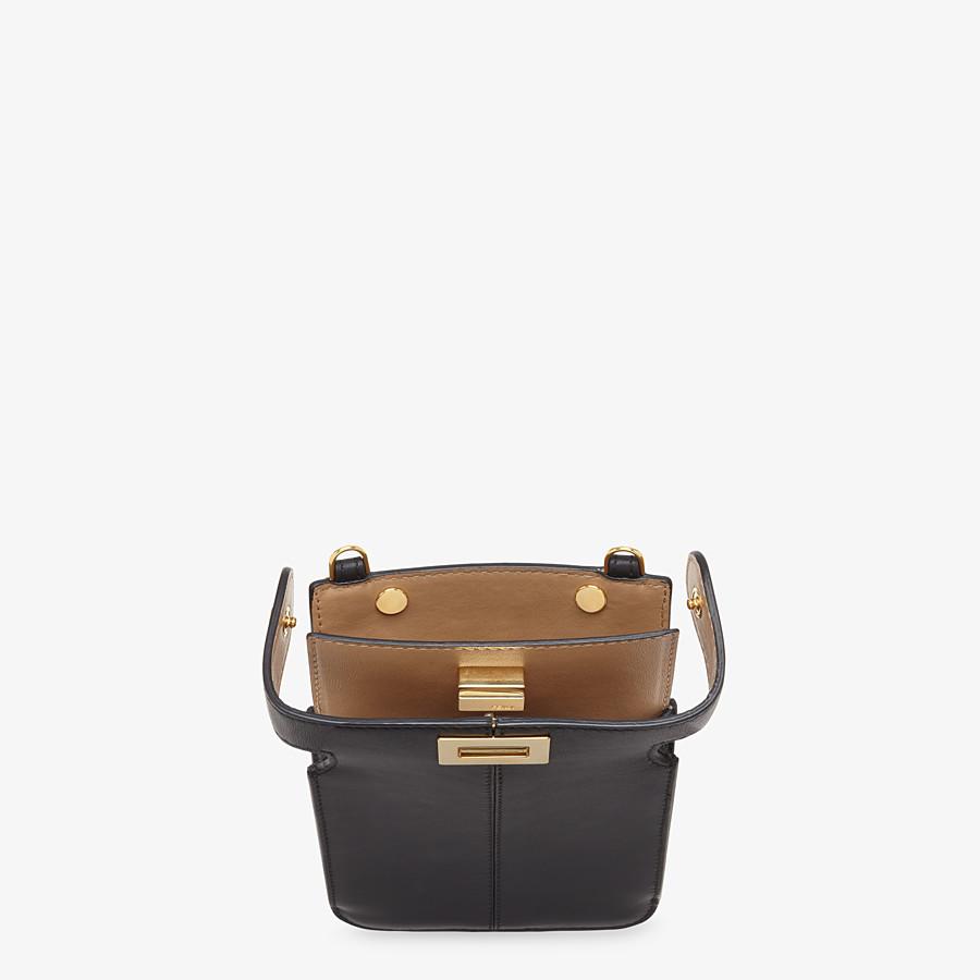 FENDI PEEK-A-PHONE - Black leather pouch - view 3 detail