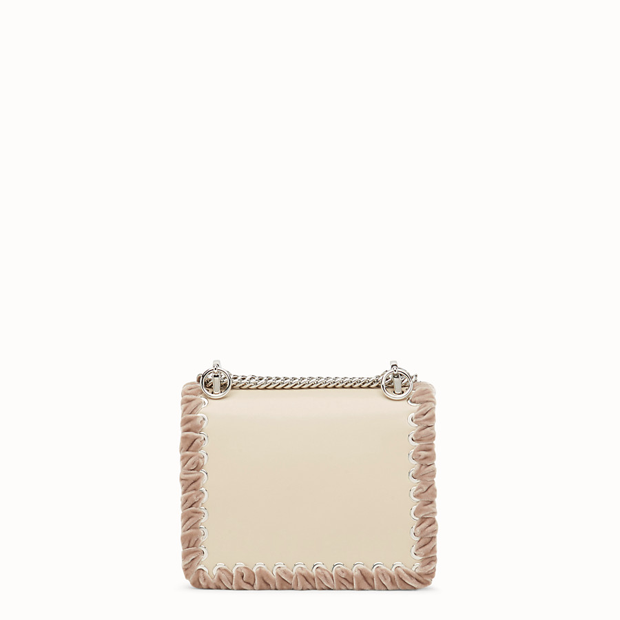 FENDI KAN I SMALL - Beige leather minibag - view 3 detail