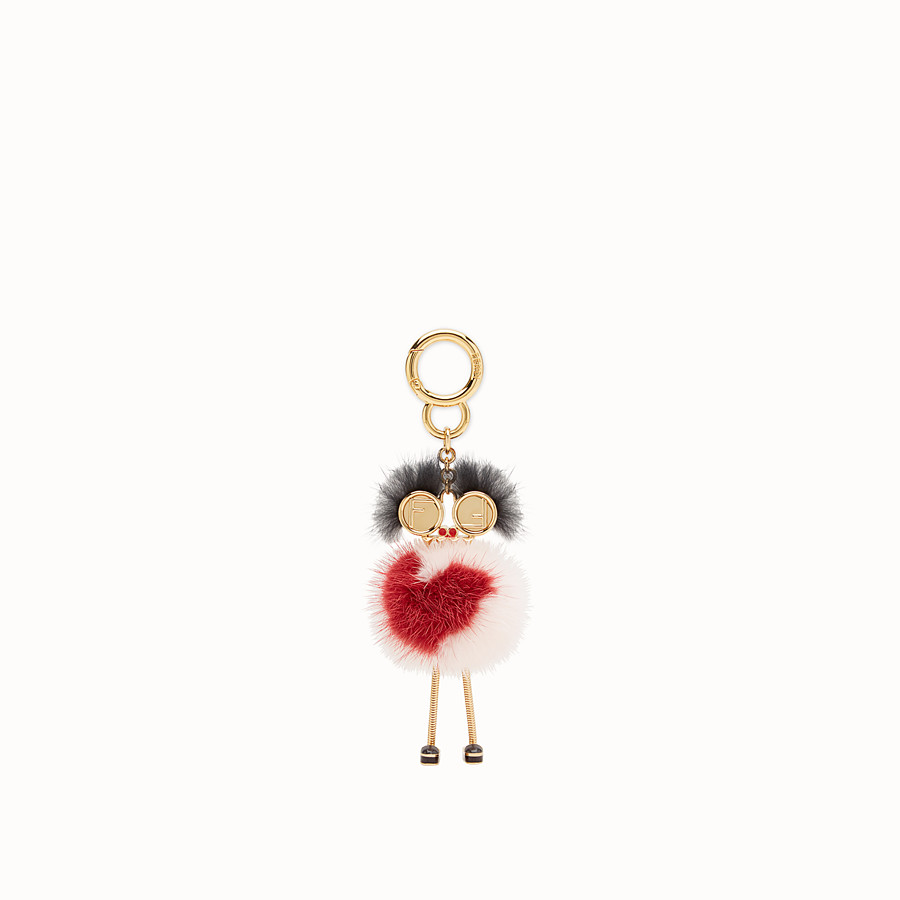 FENDI CHICK BAG CHARM - Multicolour mink charm - view 2 detail