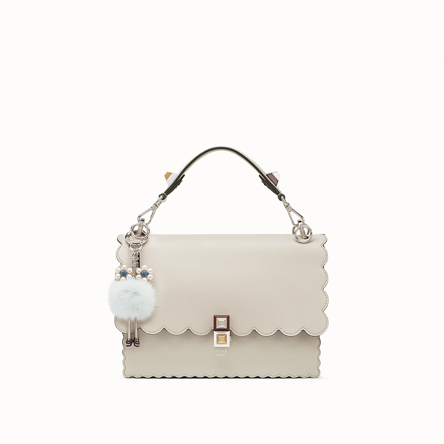 FENDI CHICK CHARM - Pale blue fur charm - view 3 detail