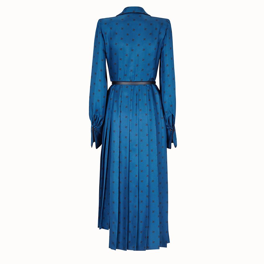 FENDI DRESS - Blue silk dress - view 2 detail