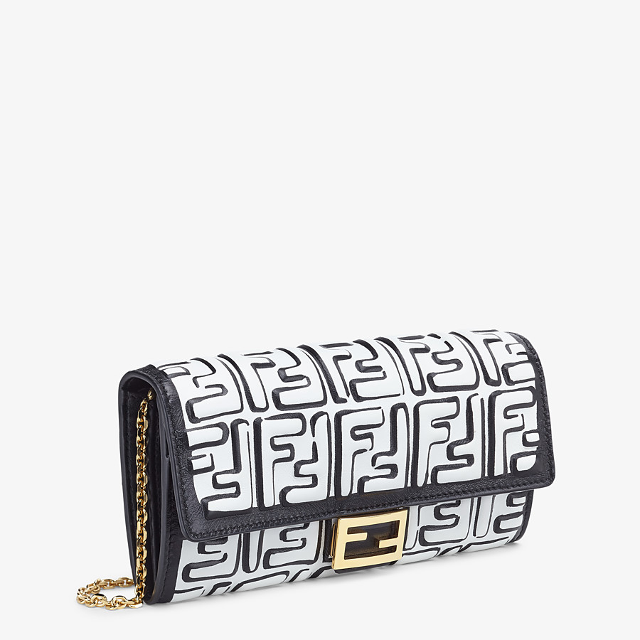 FENDI CONTINENTAL WITH CHAIN - White nappa leather wallet - view 2 detail