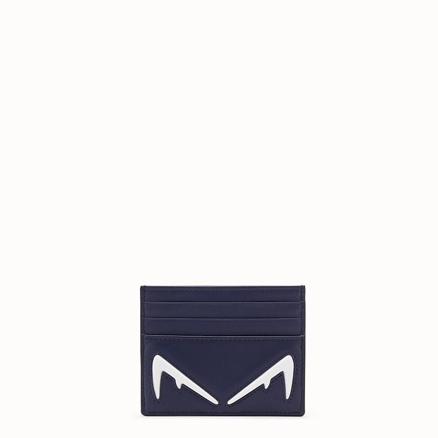 FENDI CARD HOLDER - Blue leather card holder - view 1 detail