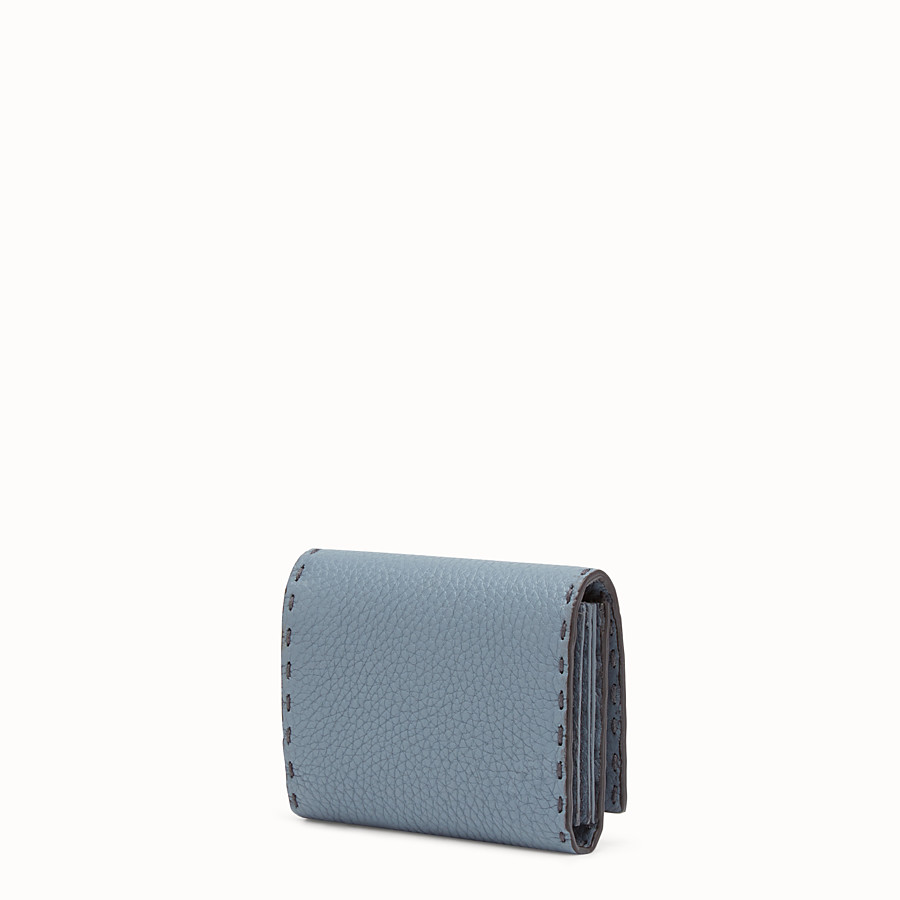 FENDI CARD HOLDER - Mini leather and elaphe wallet - view 2 detail