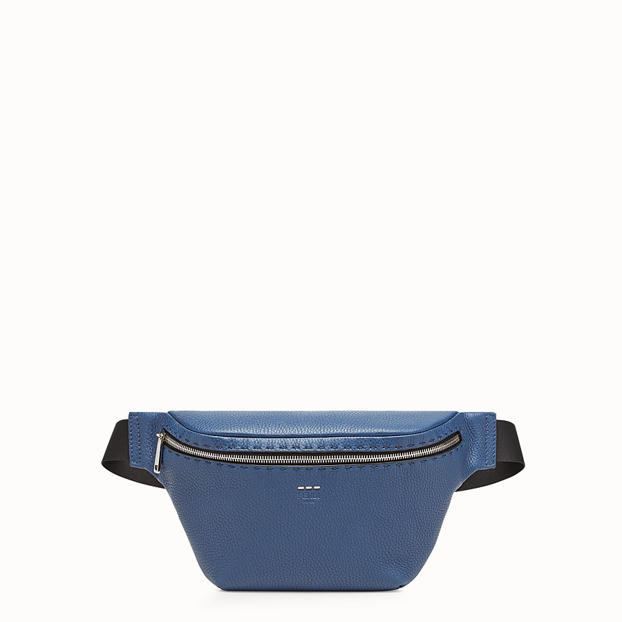 FENDI BELT BAG - Blue leather belt bag - view 1 detail