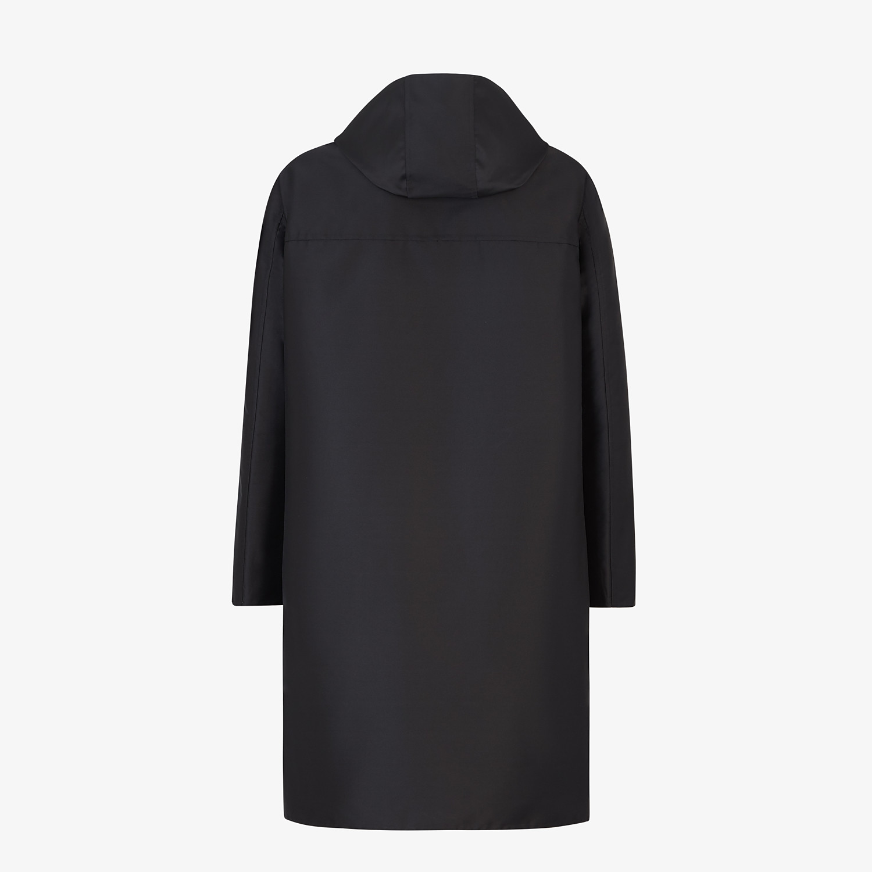 FENDI DUFFEL COAT - Black nylon coat - view 2 detail