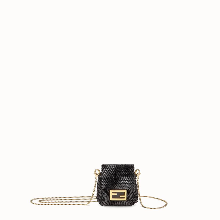 FENDI PICO BAGUETTE CHARM - Charm with black beads - view 1 detail
