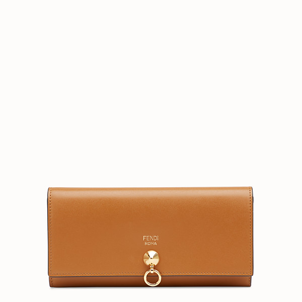 FENDI CONTINENTAL - Brown leather wallet - view 1 small thumbnail