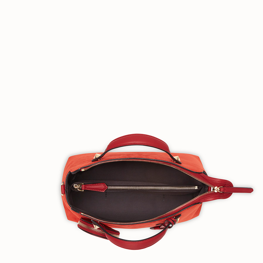 FENDI BY THE WAY MEDIUM - Red suede Boston bag - view 4 detail