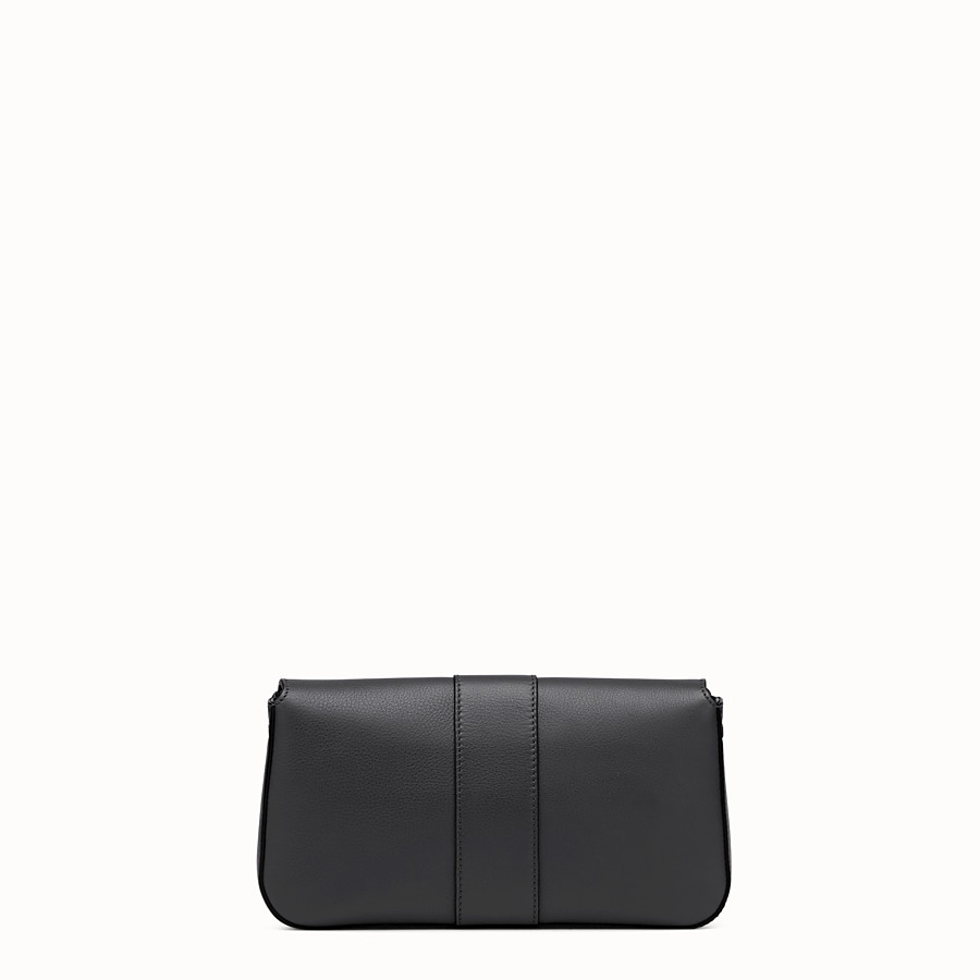 FENDI BAGUETTE - Black leather shoulder bag - view 3 detail