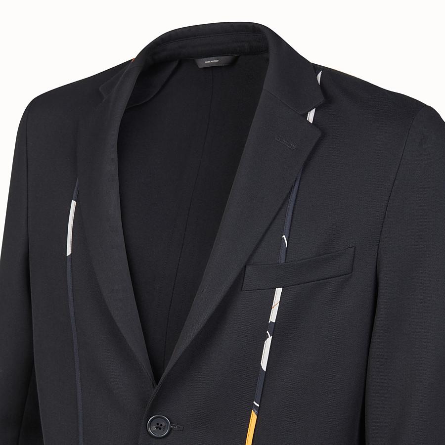 FENDI GIACCA - Blazer in twill nero - vista 4 dettaglio