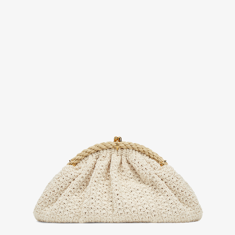 FENDI SHELL - White cotton-crochet pochette - view 1 detail