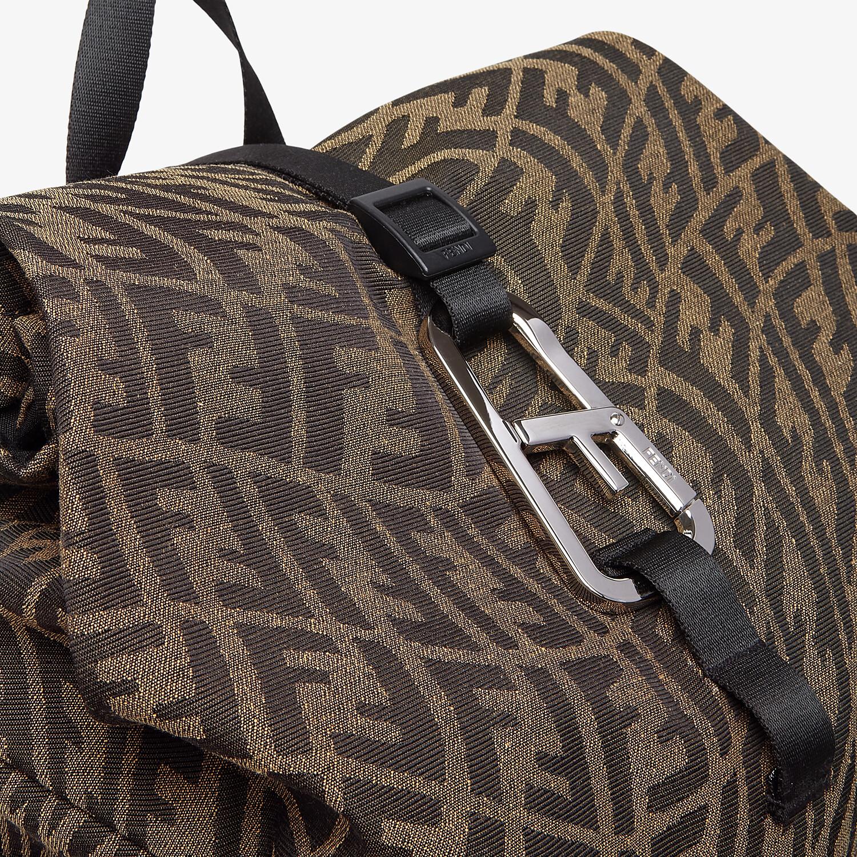 FENDI FERRINO BACKPACK - Backpack in brown FF Vertigo fabric - view 5 detail