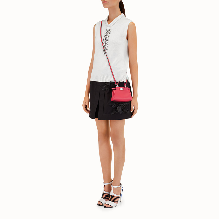 FENDI MICRO PEEKABOO - micro bag in fuchsia leather - view 3 detail