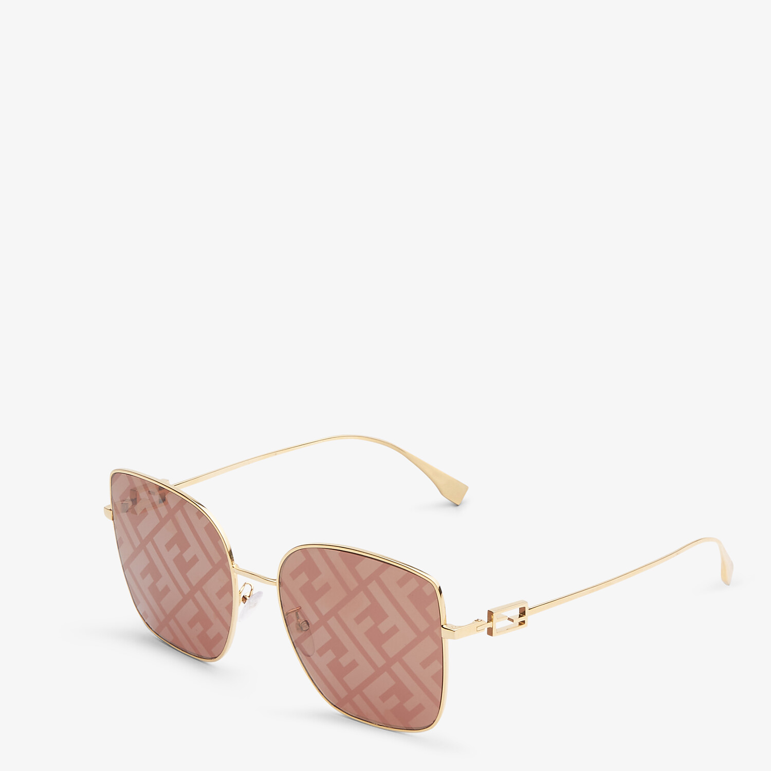 FENDI BAGUETTE - Sunglasses featuring brown lenses with FF logo - view 2 detail