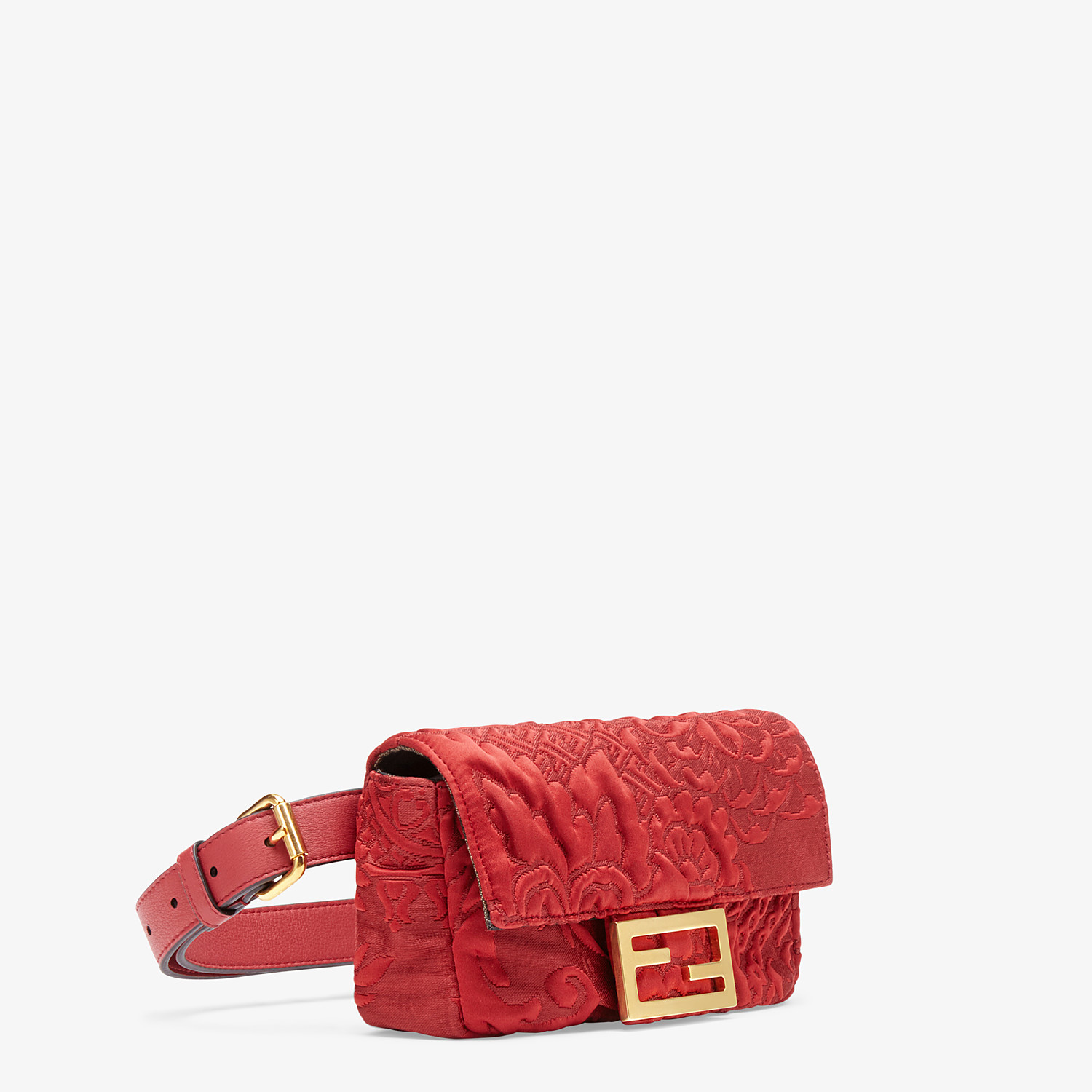 FENDI BELT BAG - Red fabric minibag - view 3 detail