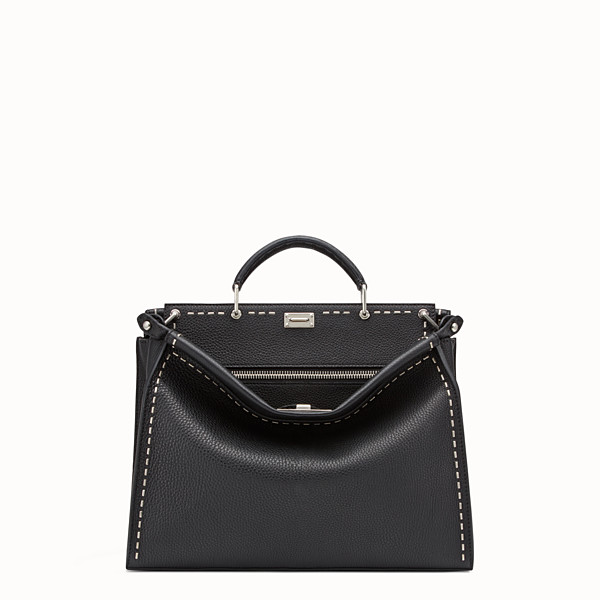 FENDI PEEKABOO FIT - Black leather Selleria bag - view 1 small thumbnail