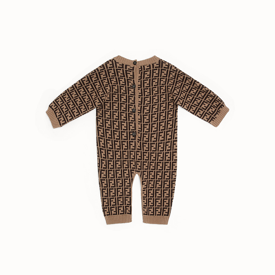 FENDI PLAYSUIT - Tobacco cotton and cashmere playsuit - view 2 detail