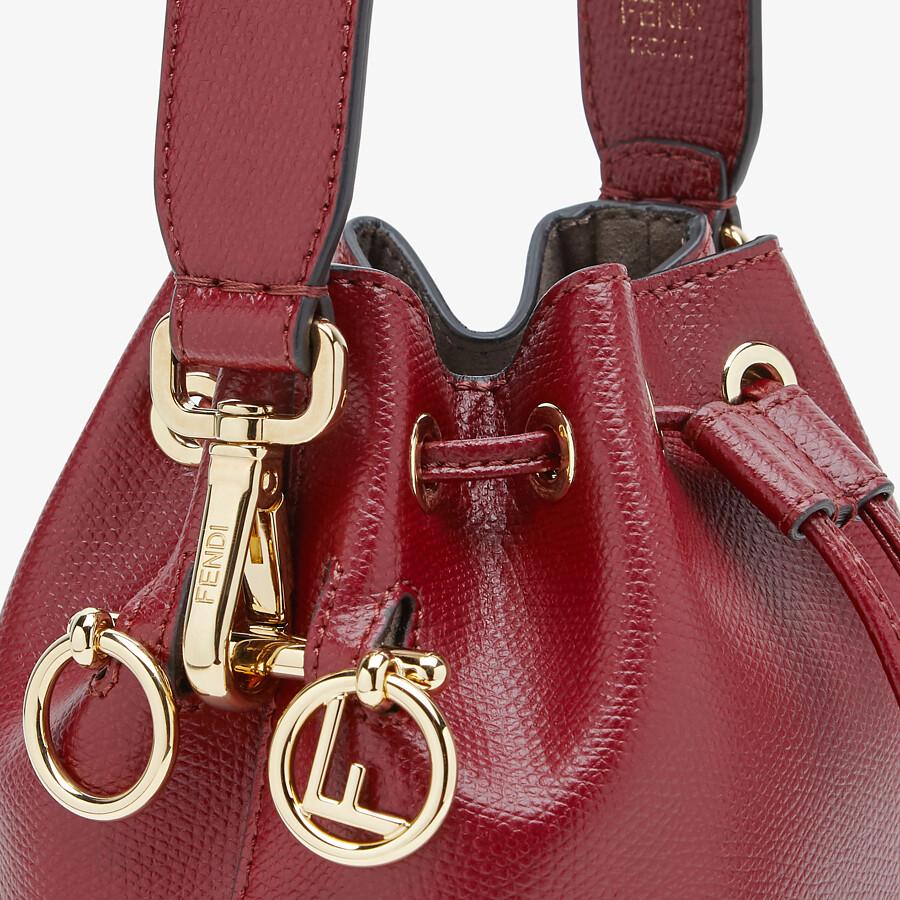 FENDI MON TRESOR - Burgundy leather mini bag - view 5 detail