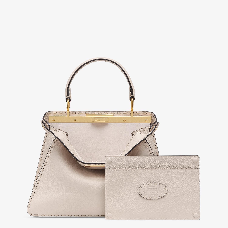 FENDI PEEKABOO ISEEU MEDIUM - White full grain leather bag - view 3 detail