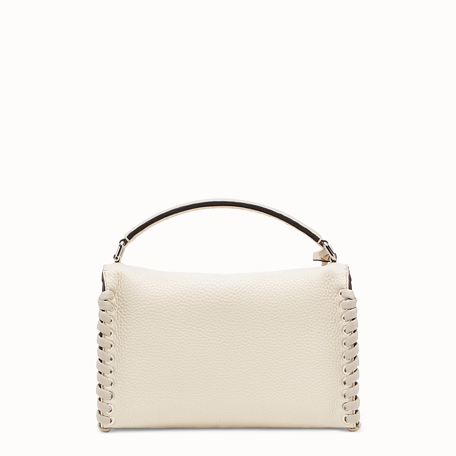 FENDI LEI SELLERIA BAG - White leather Boston bag - view 3 detail