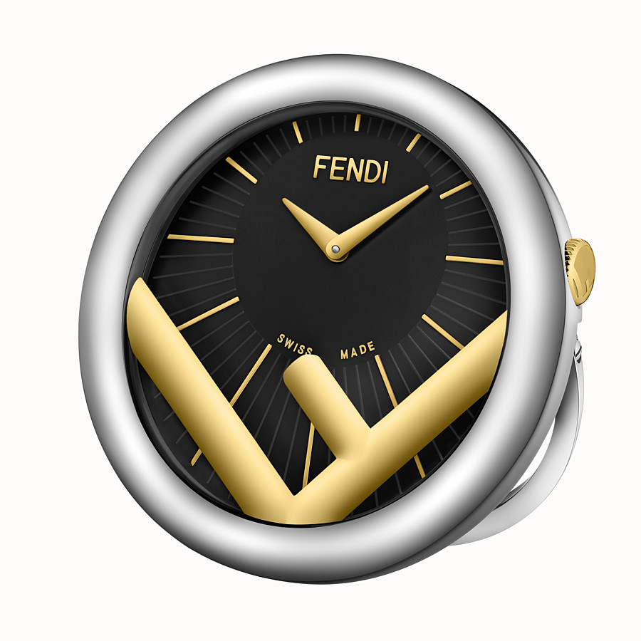FENDI HORLOGE DE TABLE RUN AWAY - 60 mm – Horloge de table à logo F is Fendi - view 2 detail