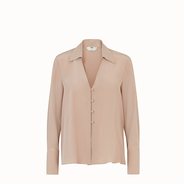 FENDI SHIRT - Beige crêpe de Chine blouse - view 1 small thumbnail