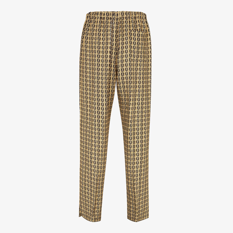 FENDI TROUSERS - Beige gabardine trousers - view 2 detail