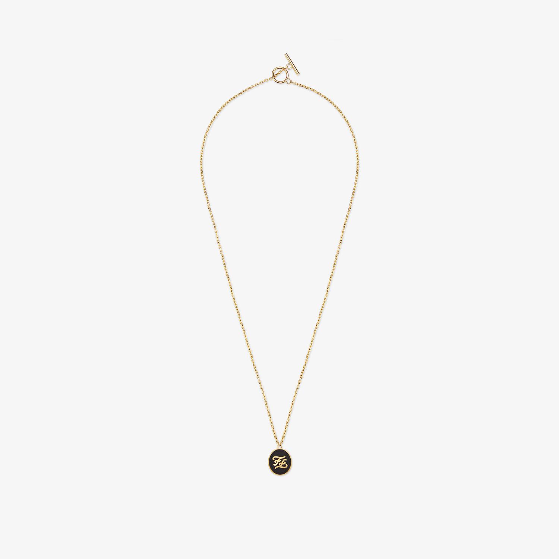 FENDI NECKLACE - Golden metal necklace - view 1 detail
