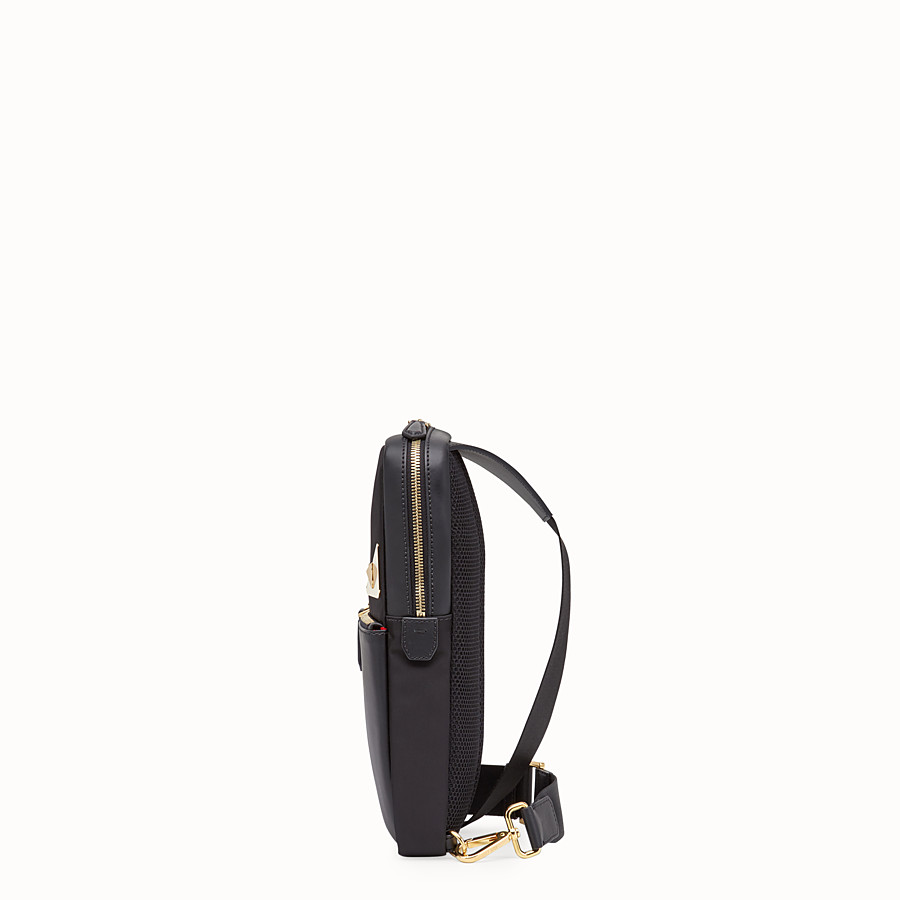 FENDI BELT BAG - Black nylon one-shoulder backpack - view 2 detail