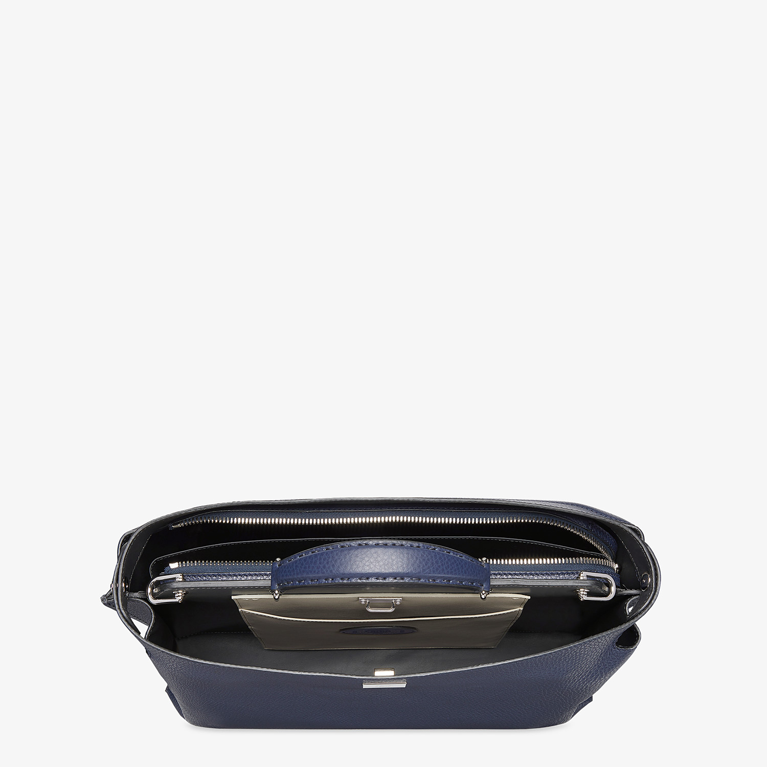 FENDI PEEKABOO ICONIC ESSENTIAL - Blue leather bag - view 4 detail
