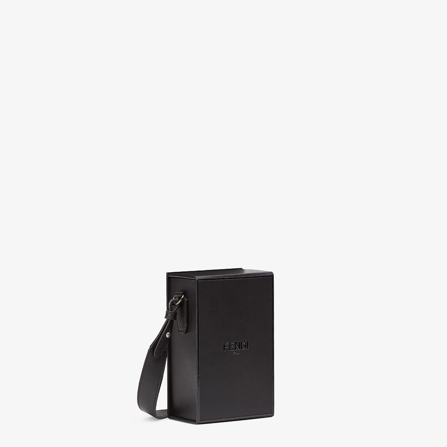 FENDI VERTICAL BOX - Black leather bag - view 2 detail