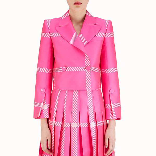 FENDI JACKE - Macrocheck-Blazer in Fuchsia - view 1 small thumbnail