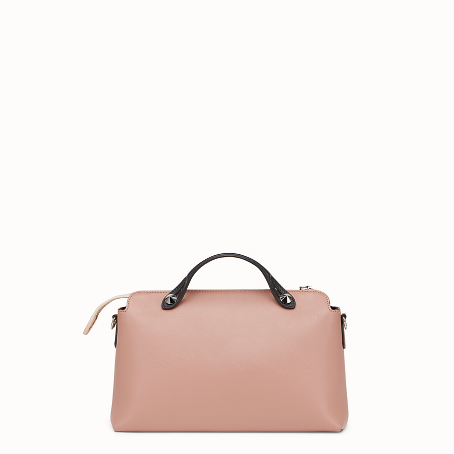 FENDI BY THE WAY REGULAR - Pink leather Boston bag - view 3 detail