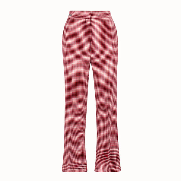 FENDI TROUSERS - Red wool trousers - view 1 small thumbnail