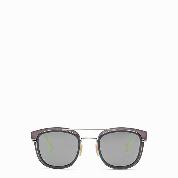 FENDI FENDI GLASS - Grey and palladium sunglasses - view 1 small thumbnail