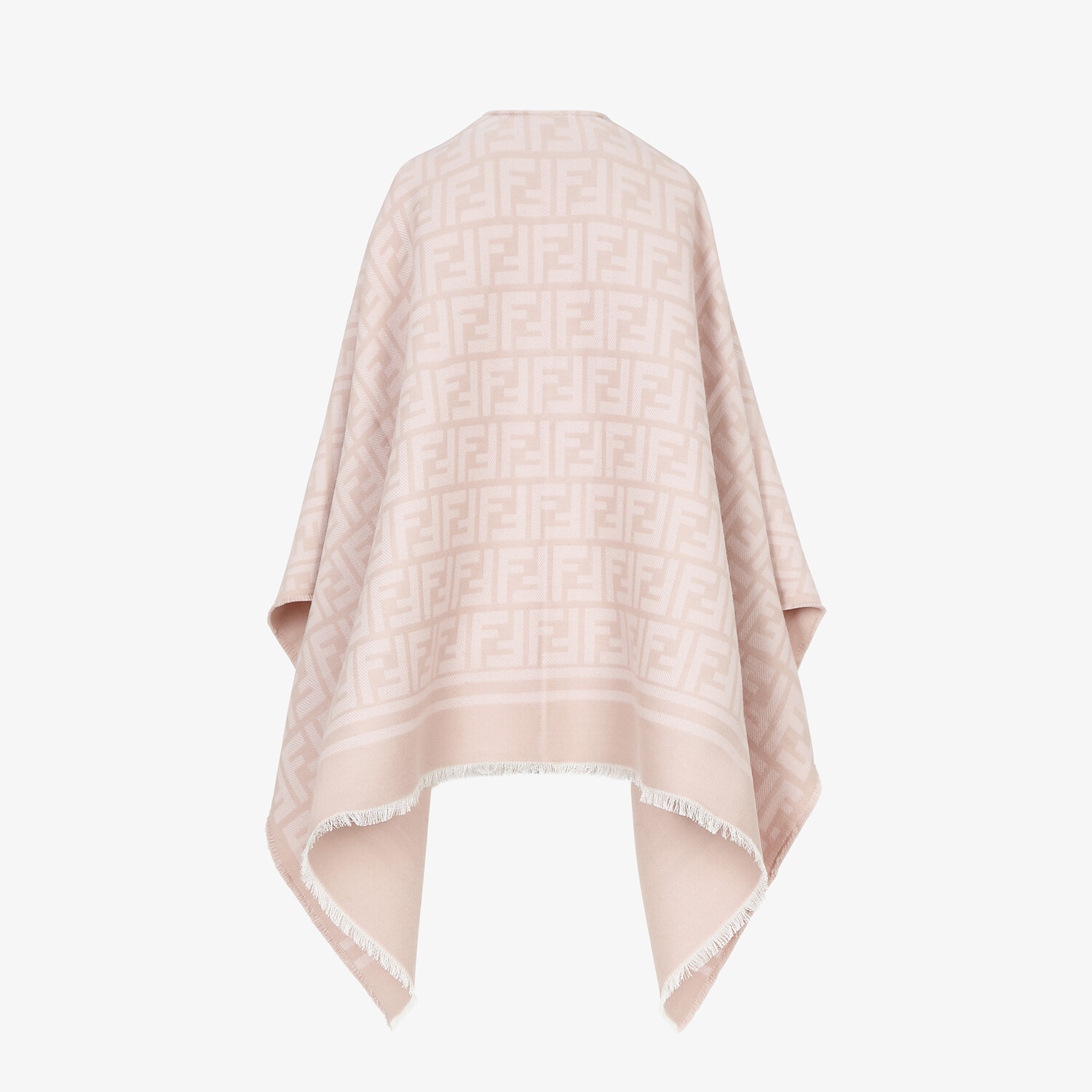 FENDI PONCHO - Poncho in pink wool and silk - view 2 detail