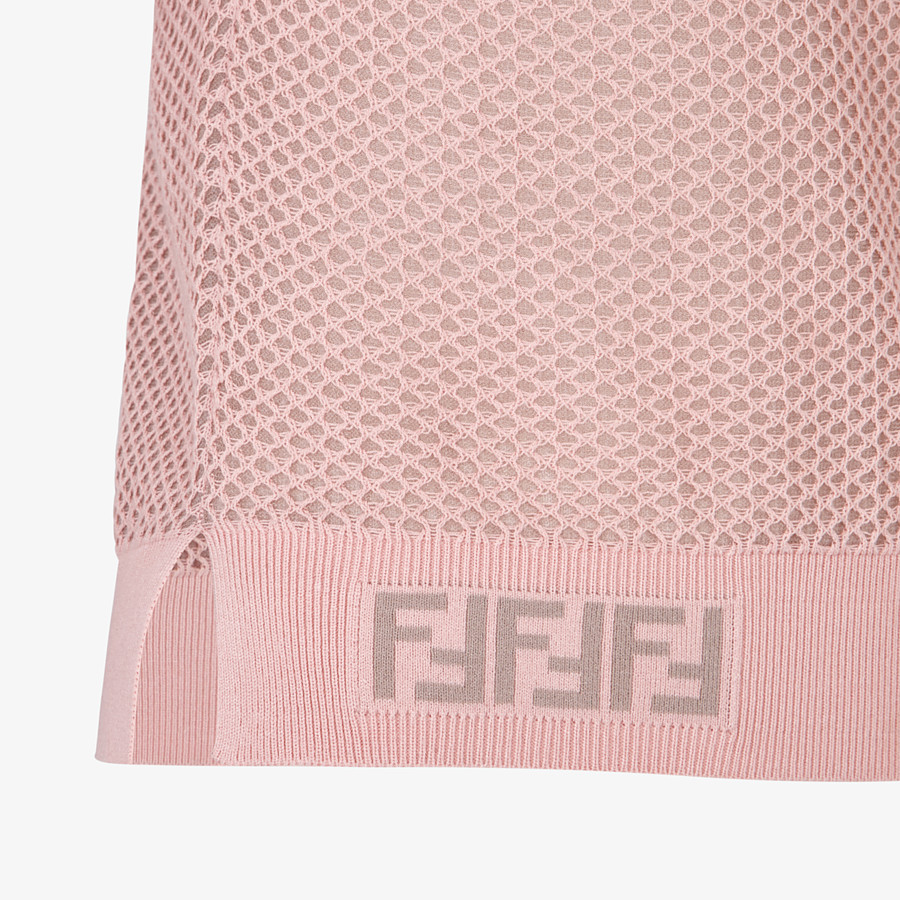 FENDI SWEATER - Pink mesh sweater - view 3 detail