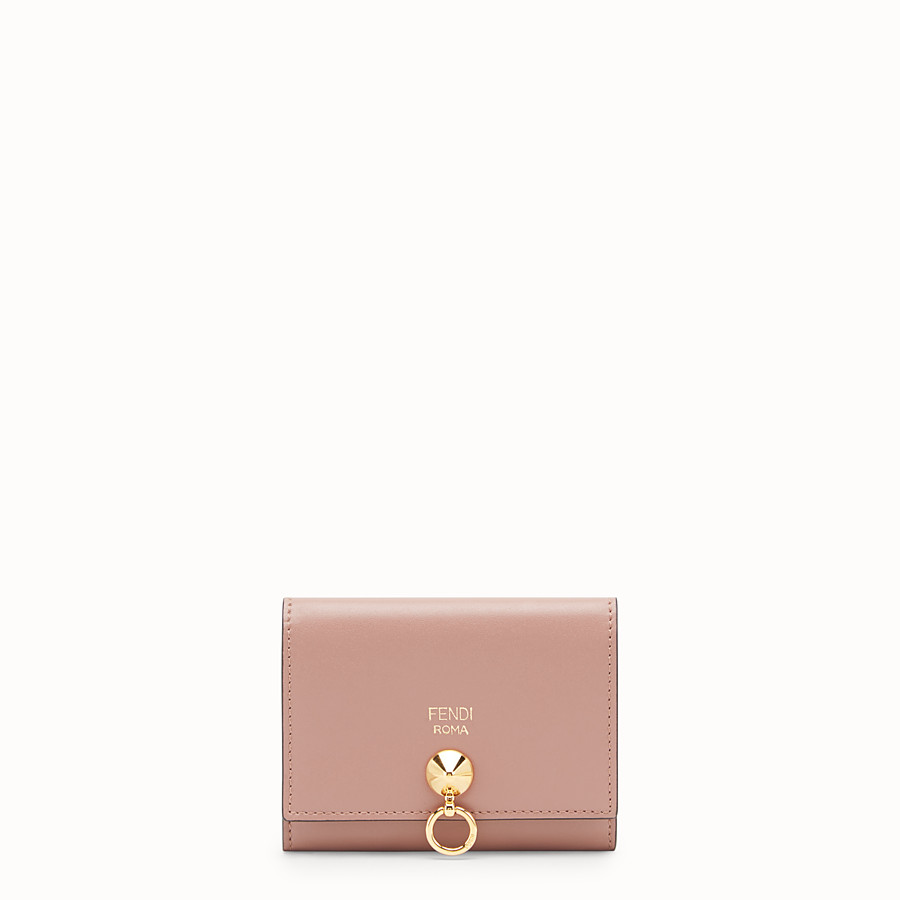 FENDI CARD HOLDER - Pink leather business card holder - view 1 detail